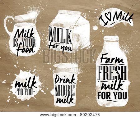 Milk symbolic drawing