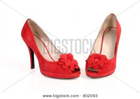Romantic red shoes