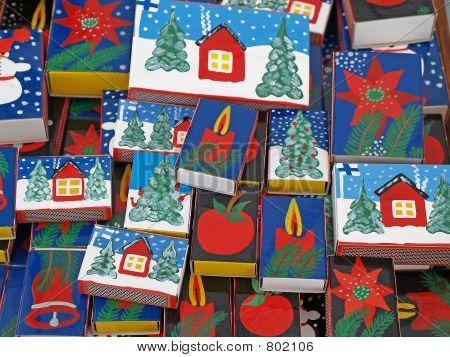 Collection of Christmas match boxes