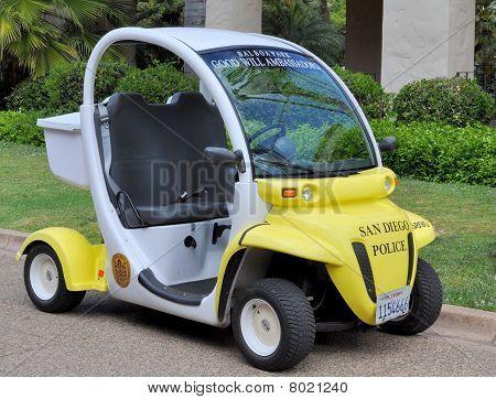 Polizei Elektro-Fahrzeug