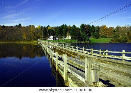 a flooded bridge