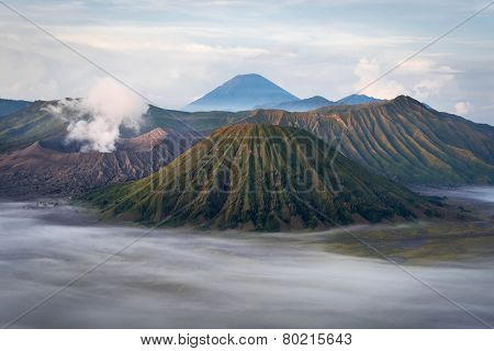Mount Bromo At Sunrise, Java, Indonesia