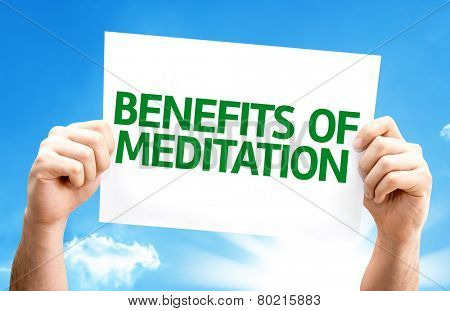 Benefits of Meditation card with a beautiful day