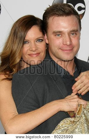 LOS ANGELES - JAN 14:  Michelle Stafford, Billy Miller at the ABC TCA Winter 2015 at a The Langham Huntington Hotel on January 14, 2015 in Pasadena, CA