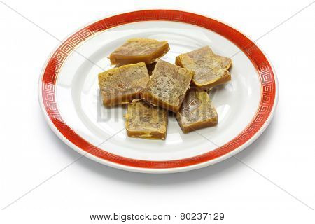 nian gao, chinese new year rice cake, cooked