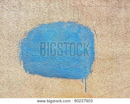 Blue Spot Of Paint