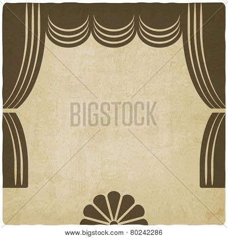 theater stage with curtains old background