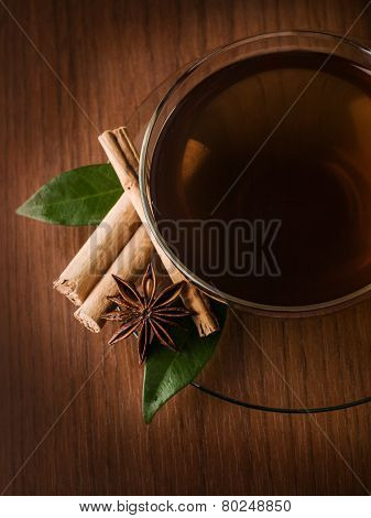 Tea Cup With Cinammon And Anise