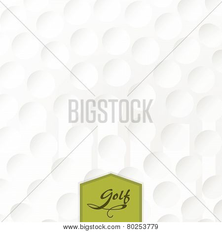 Background Texture Of A Golf Ball With A Label.