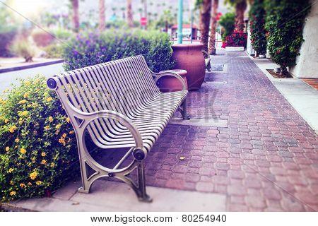 California Bench. La Quinta Coachella Valley Old Town Bench. poster