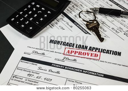 Mortgage Loan Application Approved 012