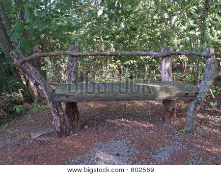 Old rotten bench in a park