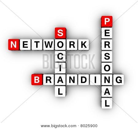 Personal Branding Social Network (3D crossword series) poster