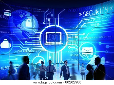 usiness People Commuter Technology Security Commuter Corporate Concept