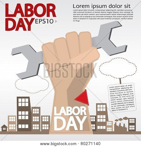 May 1st Labor Day Illustration Conceptual Vector. EPS 10 poster