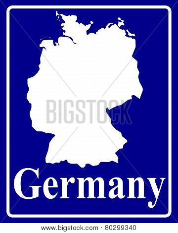 Silhouette Map Of Germany