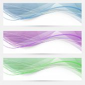 Swoosh speed wave crystal header collection - abstract modern set. Vector illustration poster