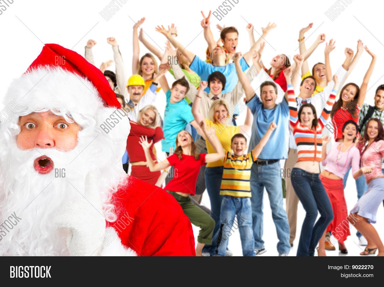 Gente Feliz En Navidad.Imagen Y Foto Gente Feliz Navidad Prueba Gratis Bigstock