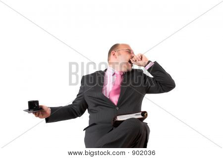 Yawning Businessman