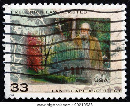Postage Stamp Usa 1999 Frederick Law Olmsted, Landscape Architec