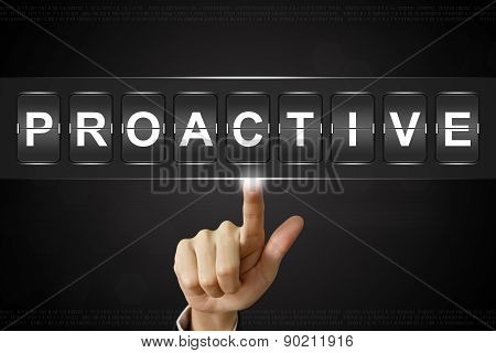 Business Hand Clicking Proactive On Flipboard