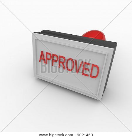 3D Rubber Stamp Approved