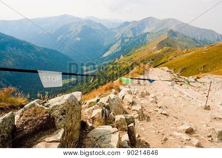 Stop Sign In Tatra Mountains
