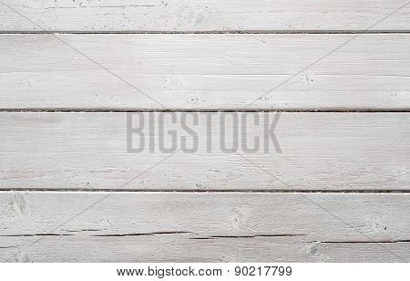 White textured wooden board background. Horizontal view