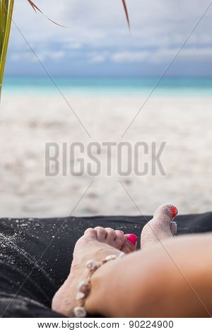 Relaxation With A Seaview On Beach