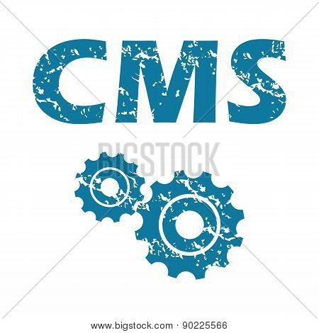 CMS grunge icon