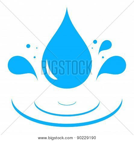 icon with blue water drop