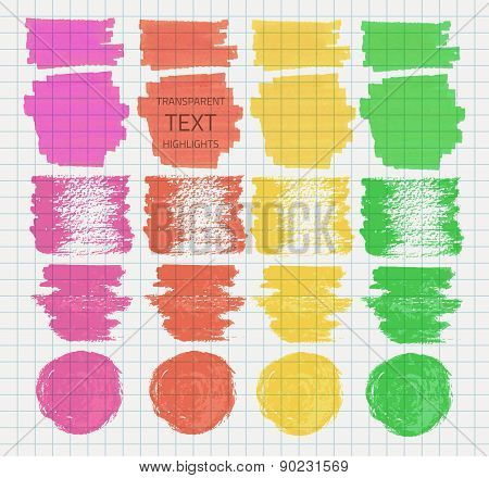 Transparent Highlighter Marks