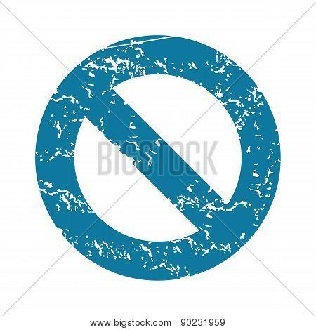 Grunge NO sign icon