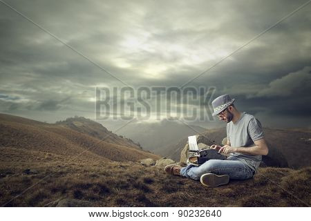 Working in a desert