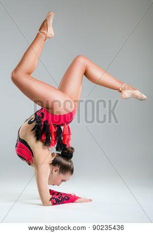 Beautiful Young Woman Limber Exerciser