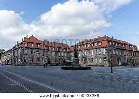 Jean-paul Statue And Postei Building In Bayreuth, Germany, 2015