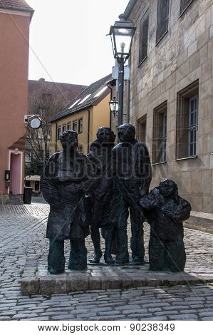 Statue Beside The Church Of The Holy Spirit In Bayreuth, Germany, 2015