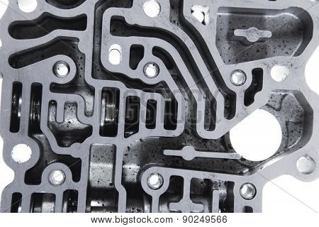 car engine : automatic transmission control center variator gearbox valve body brain poster