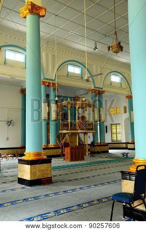 Interior of The Sultan Ibrahim Jamek Mosque at Muar, Johor