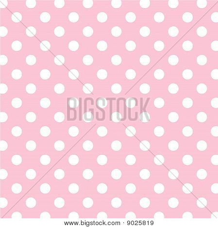 Pastel roze, grote witte Polka-Dots