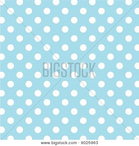 Pastel Aqua, Big White Polka Dots