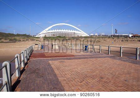 View From Pier Of Moses Mabhida Stadium