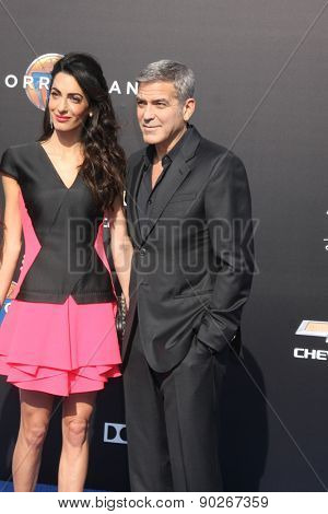 LOS ANGELES - MAY 9:  Amal Alamuddin Clooney, George Clooney at the