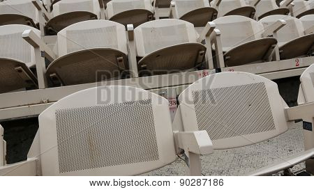 Gray Empty Seats Before The Theatrical
