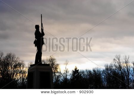 Silhoutte Of Soldier