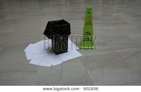 Leaking Roof Wet Floor