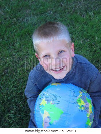 Boy And Globe