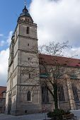 The Church of the Holy Spirit in German referred as the Stadtkirche Heilig Dreifaltigkeit is located in the historic area of the city of Bayreuth and was re-built in 1614 in a late gothic style. poster