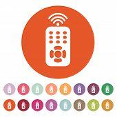 The remote control icon. Remote Control symbol. Flat Vector illustration. Button Set poster