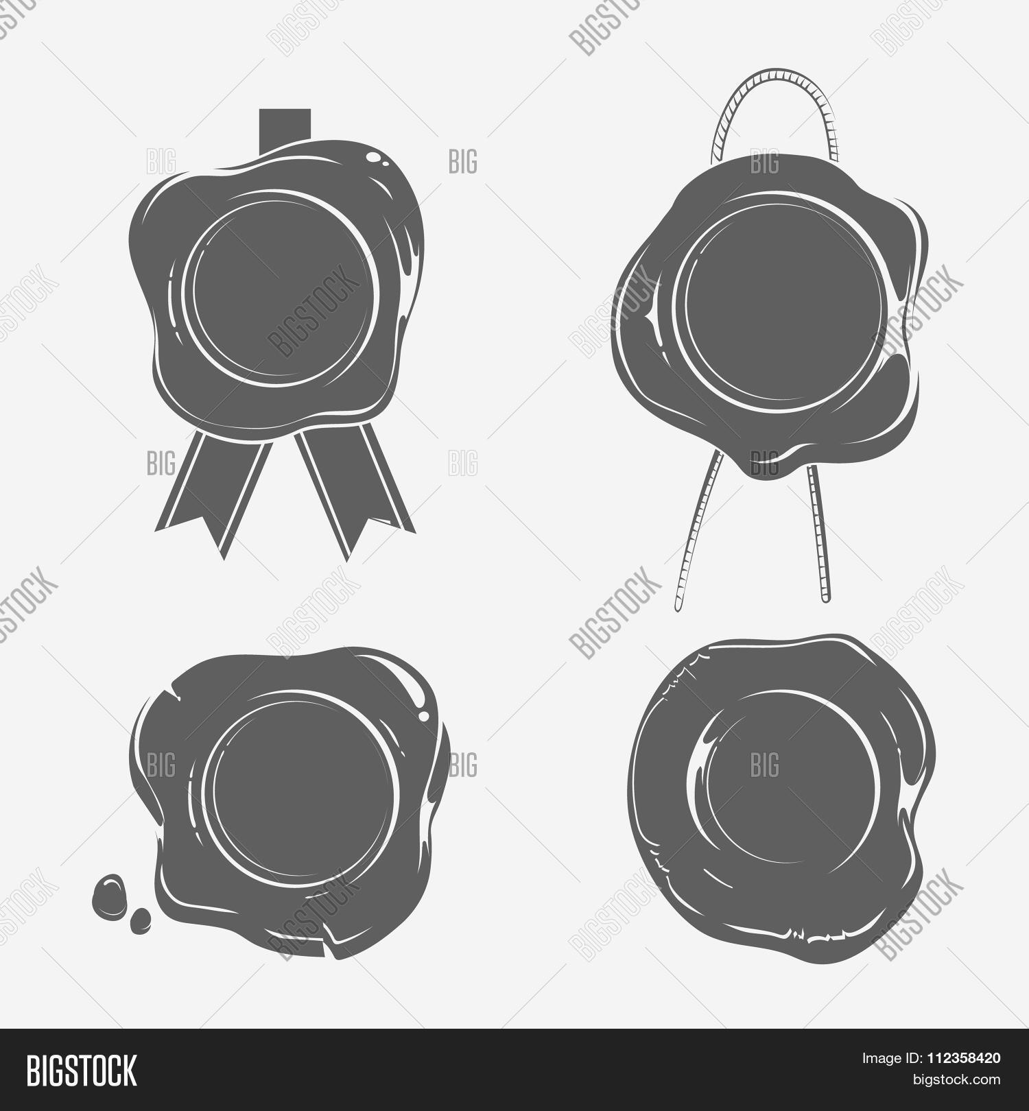 Wax Seals Black Vector & Photo (Free Trial) | Bigstock